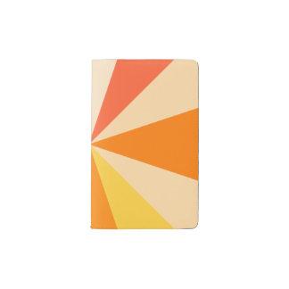 Pop Art Modern 60s Funky Geometric Rays in Orange Pocket Moleskine Notebook