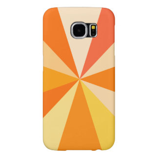 Pop Art Modern 60s Funky Geometric Rays in Orange Samsung Galaxy S6 Case