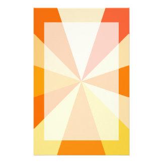 Pop Art Modern 60s Funky Geometric Rays in Orange Stationery