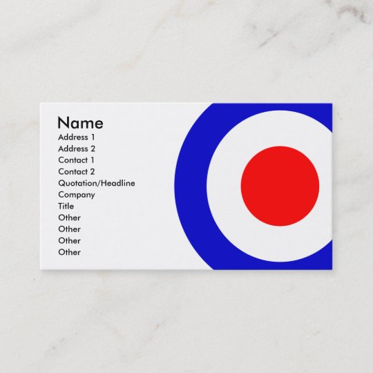 Pop art mods target business card zazzle pop art mods target business card colourmoves