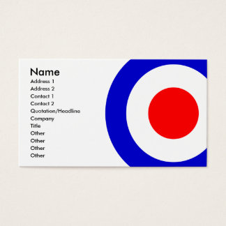 Pop Art Mods Target Business Card