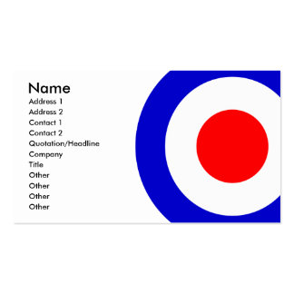 Pop Art Mods Target Double-Sided Standard Business Cards (Pack Of 100)