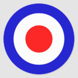 Pop Art Mods Target (pack of 6/20) Classic Round Sticker