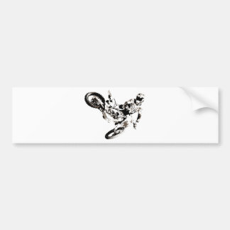 Pop Art Motocross Motorcyle Sport Bumper Sticker