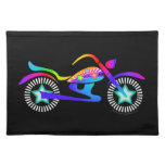 Pop Art MOTORCYCLE American MoJo Placemat Cloth Place Mat