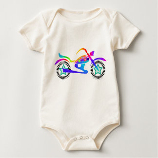 Pop Art MOTORCYCLE BABY CREEPER Shirt