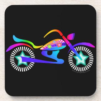 Pop Art MOTORCYCLE Cork Coaster Set