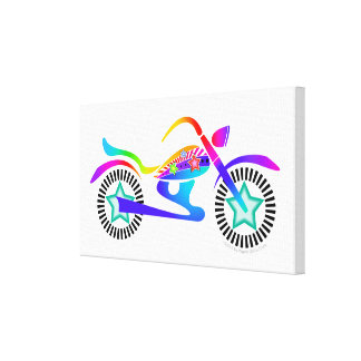 Pop Art MOTORCYCLE GALLERY WRAPPED CANVAS