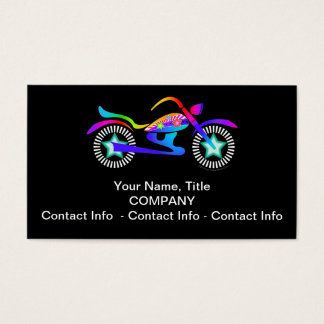 Pop Art MOTORCYCLE Gift Tag or Business Card