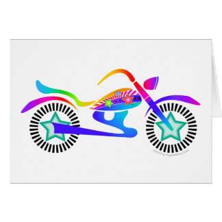Pop Art MOTORCYCLE Greeting or Note Card