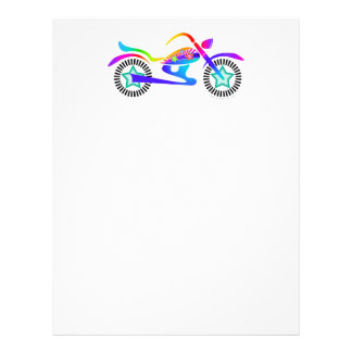 Pop Art MOTORCYCLE Letterhead