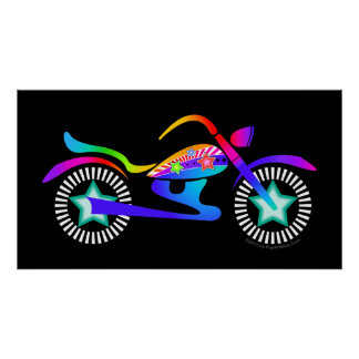 Pop Art MOTORCYCLE POSTER