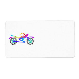 Pop Art MOTORCYCLE Return, Address or Shipping Ave Label