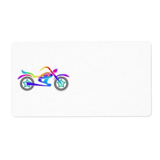 Pop Art MOTORCYCLE Return, Address or Shipping Ave Custom Return Address Label