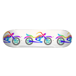 Pop Art MOTORCYCLE Skateboard