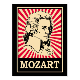 Pop Art Mozart Postcards