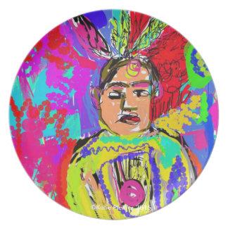 Pop Art Native American Indian Plate