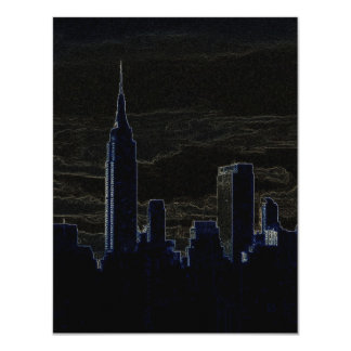 Pop Art New York City at Night Invitations