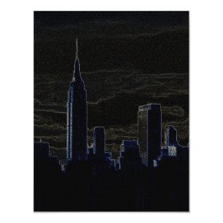 Pop Art New York City at Night Invitations
