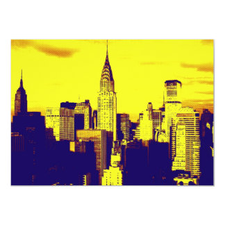 Pop Art New York City Invitation
