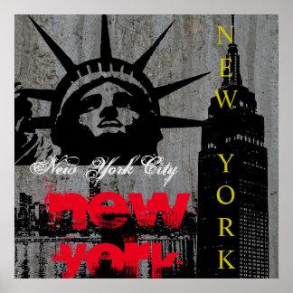 Pop Art New York City Manhattan Statue of Liberty Poster