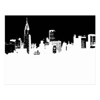 Pop Art New York City Panorama Postcard
