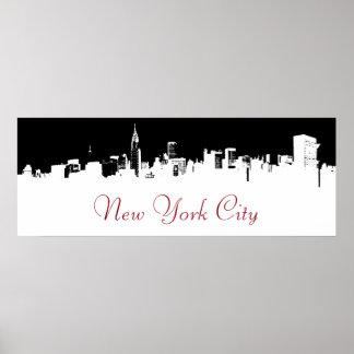 Pop Art New York City Panorama Poster