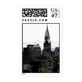 Pop Art New York City Postage Stamps
