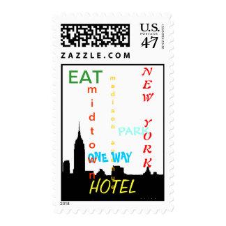 Pop Art New York City Postage Stamps