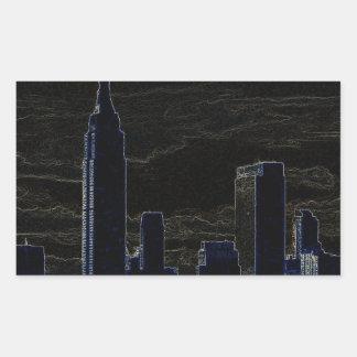 Pop Art New York City Rectangular Sticker