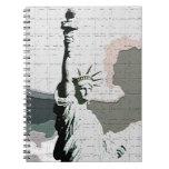 Pop Art New York - Lady Liberty Notebook