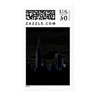 Pop Art New York Postage Stamp