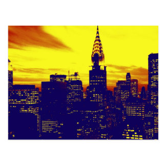 Pop Art New York Postcard