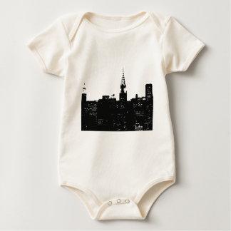 Pop Art New York Silhouette Baby Bodysuit
