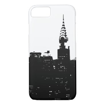 Professional Business Pop Art New York Silhouette iPhone 7 Case