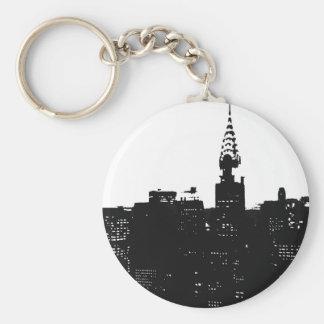 Pop Art New York Silhouette Keychain