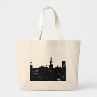 Pop Art New York Silhouette Large Tote Bag