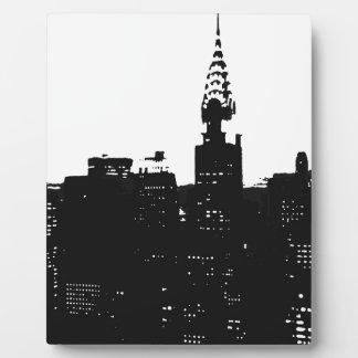 Pop Art New York Silhouette Plaque