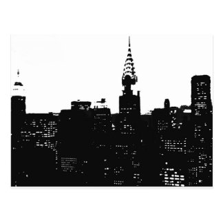 Pop Art New York Silhouette Postcard