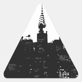 Pop Art New York Silhouette Stickers