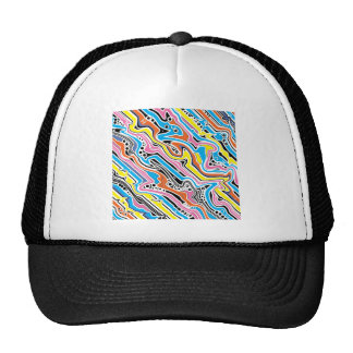 Pop Art No 1 Colorful Abstract Mesh Hat