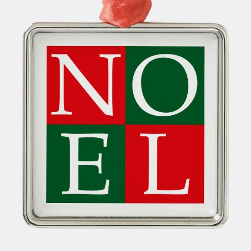 Pop Art Noel Metal Ornament