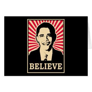 Pop Art Obama Card