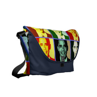 Pop Art Obama Rickshaw Messenger Bag