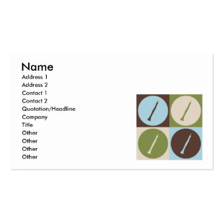 Pop Art Oboe Double-Sided Standard Business Cards (Pack Of 100)