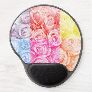 Pop art of roses overlay multiple colors water gel mousepad