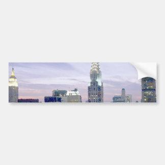 Pop Art Oil Paint Effect New York Bumper Sticker