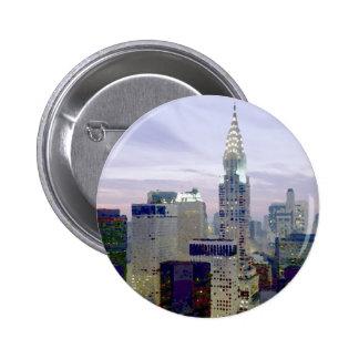 Pop Art Oil Paint Effect New York Button