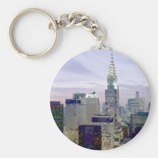 Pop Art Oil Paint Effect New York Keychain
