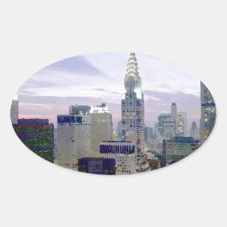 Pop Art Oil Paint Effect New York Sticker